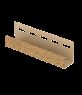 J-планка Стоун Хаус S-Lock Клинкер Горчичный для Фасадных панелей Ю-Пласт