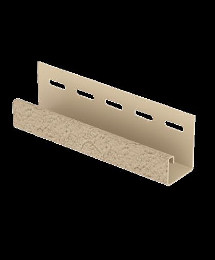 J-планка Стоун Хаус S-Lock Клинкер Песочный  для Фасадных панелей Ю-Пласт