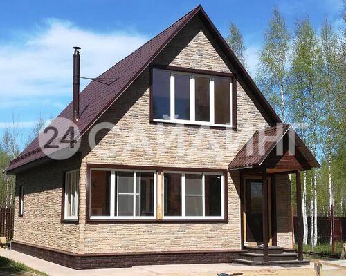 фото дома отделанного фасадными панелями альта профиль комби скалистый камень цвет альпы галерея 1