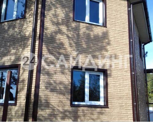 фото дома отделанного фасадными панелями гранд лайн я фасад демидовский кирпич цвет песок галерея 1