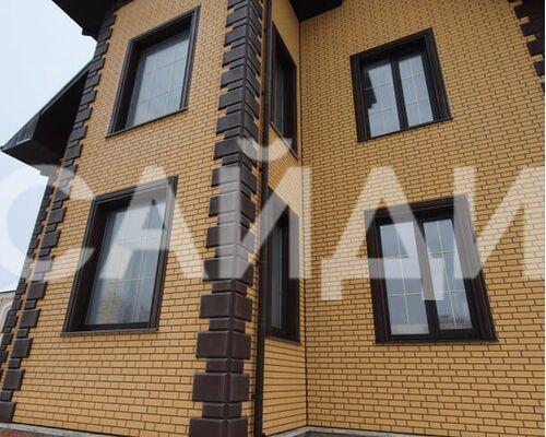 фото монтажа альта профиль кирпич клинкерный желтый