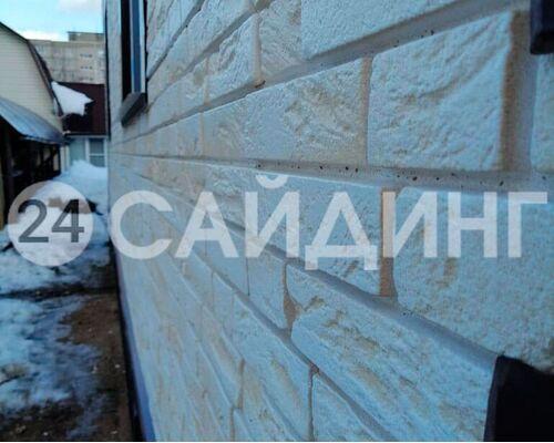 фото монтажа grand line я-фасад демидовский кирпич слоновая кость