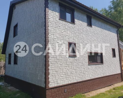 фото монтажа grand line я-фасад екатерининский камень серебро