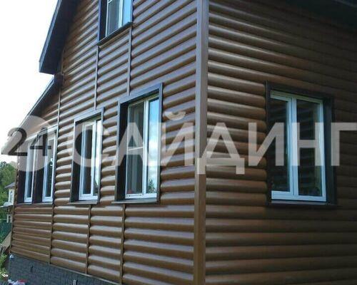 фото монтажа альта-профиль блок-хаус, двухпереломный дуб светлый