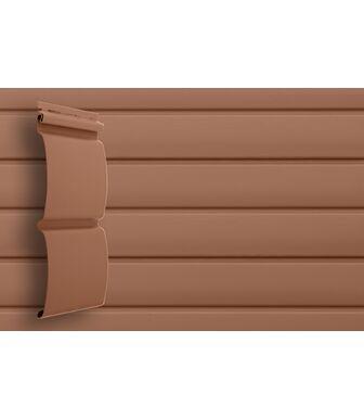 Сайдинг Grand Line Блок-Хаус Темно-бежевый Premium