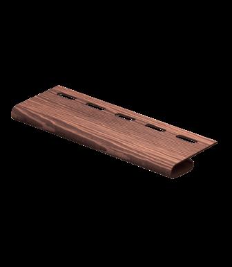 Завершающая планка Timberblock Дуб Мореный для сайдинга Ю-Пласт