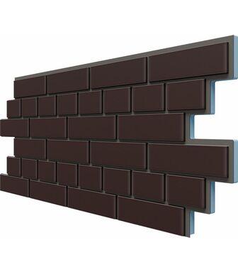 Фасадные Термопанели Доломит Кирпич 20 мм Коричневый
