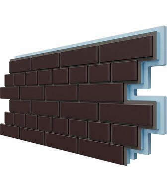 Фасадные Термопанели Доломит Кирпич 40 мм Коричневый
