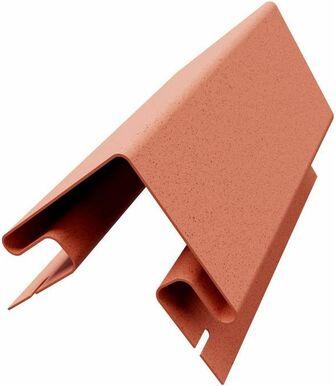 Угол наружный к термопанелям Доломит 20 мм Красный