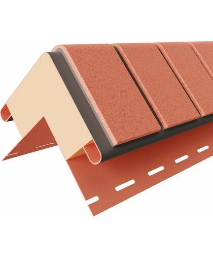 Угол наружный к термопанелям Доломит Кирпич 20 мм Красный