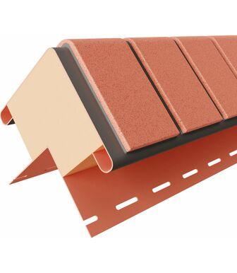 Угол наружный к термопанелям Доломит Кирпич 40 мм Красный