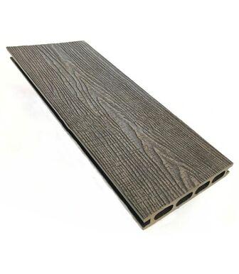 Террасная доска (149*23,5*4000) пустотелая, шовная, с 3D-тиснением Венге