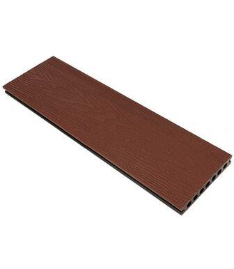 Террасная доска (150*23,5*4000) пустотелая, шовная, Резина Коричневый