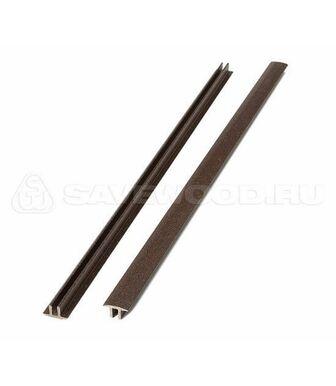 Заглушка ДПК для террасной доски Savewood Padus темно-коричневый