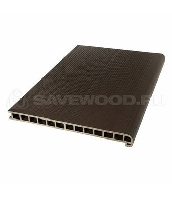 Профиль ДПК для ступеней и лестниц SaveWood Radix темно-коричневый